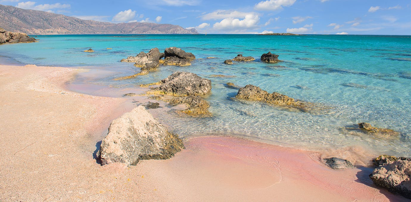elafonissi beach crete greece pink sand beach psd