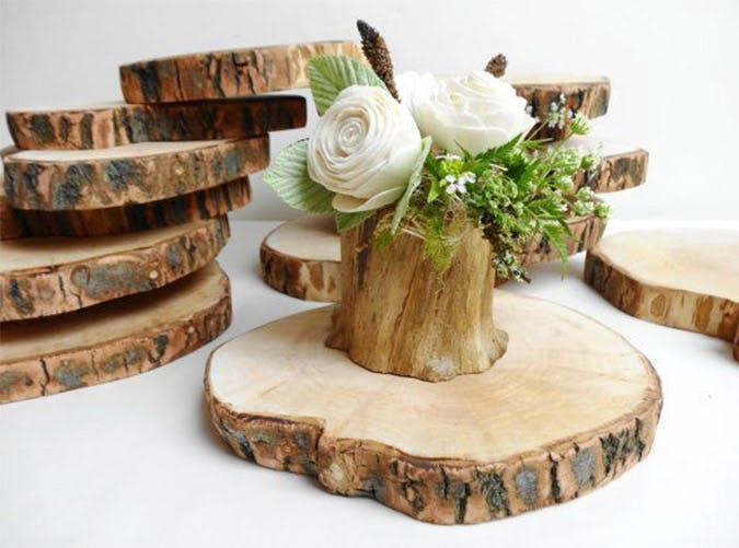 etsy wedding finds tree trunk