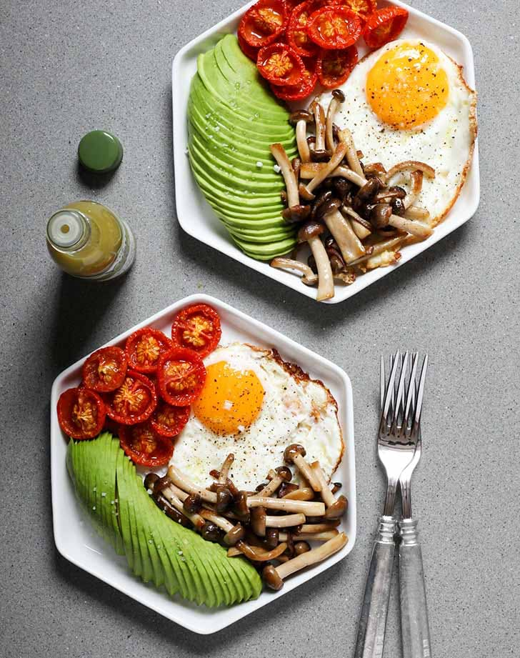 fried eggs roasted tomatoes mushrooms 921