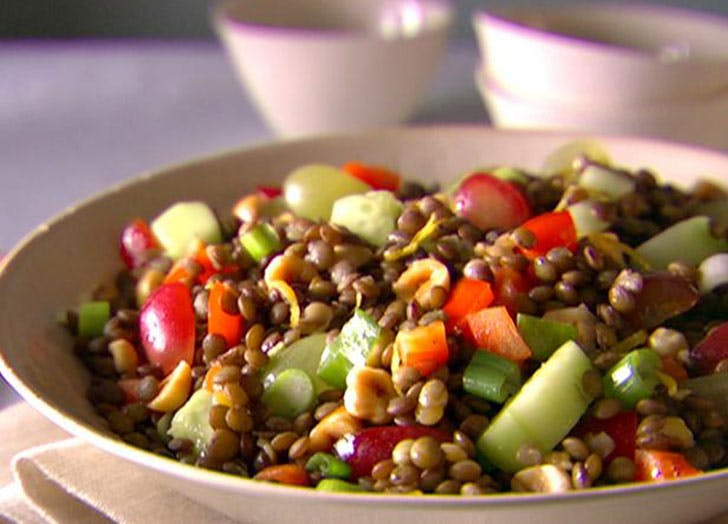 how to eat clean lentil salad