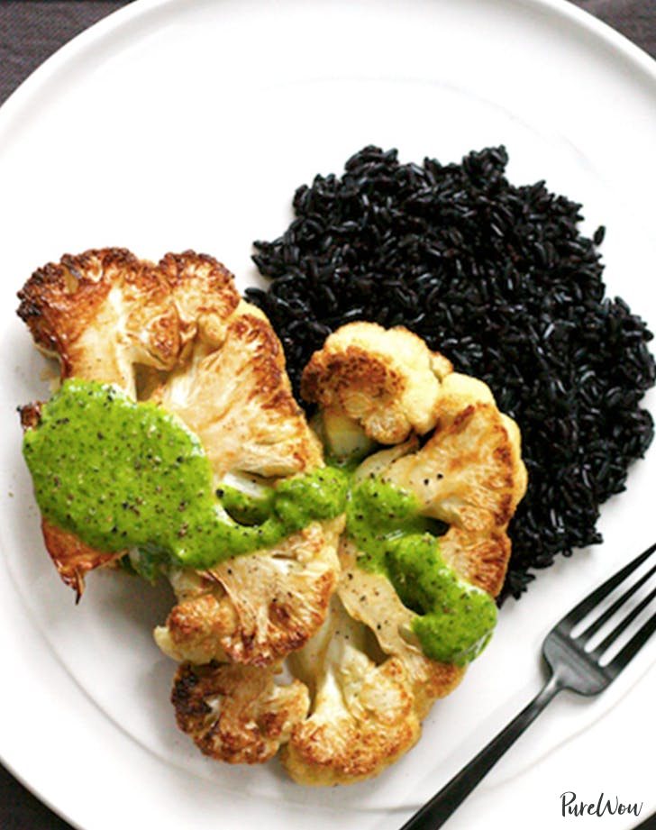 how to eat clean cauliflower steak