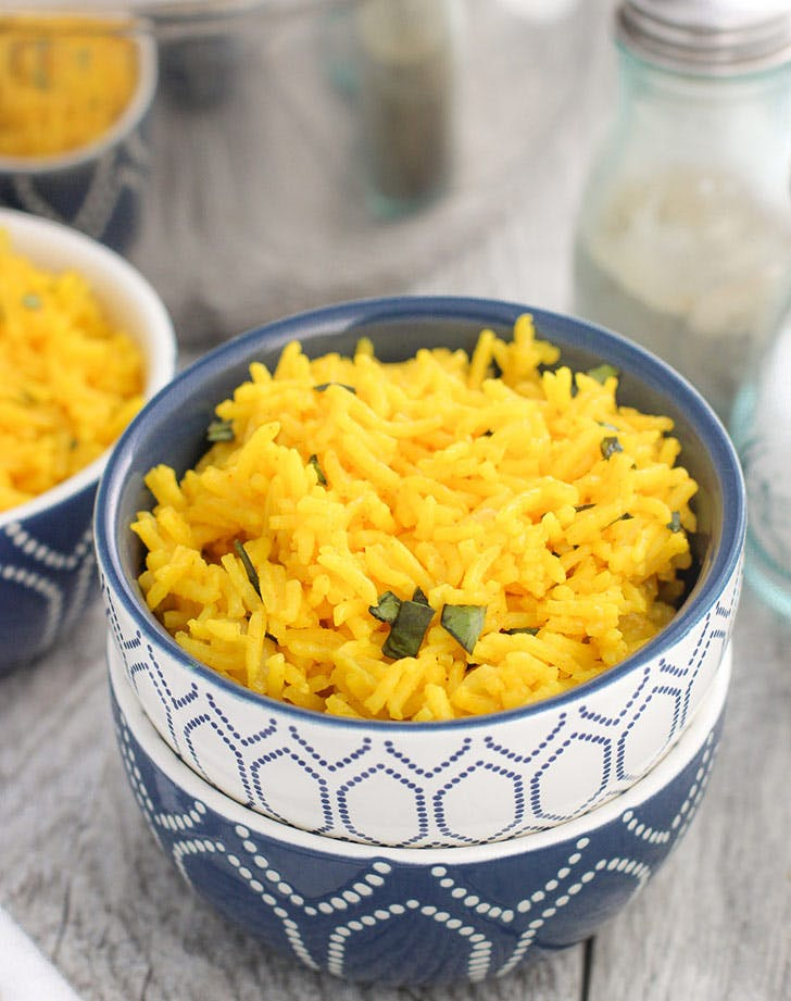 indian turmeric coconut rice 921