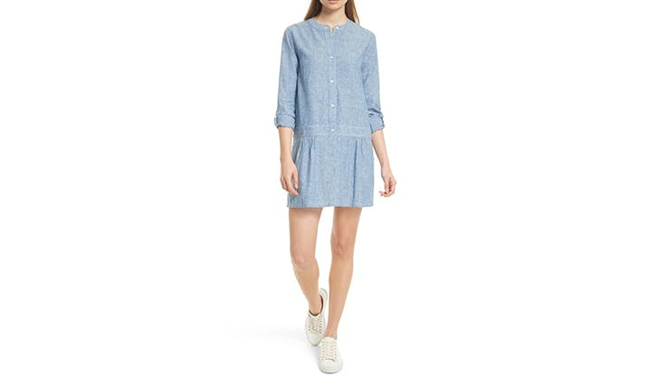 joie chambray dress to wear into november