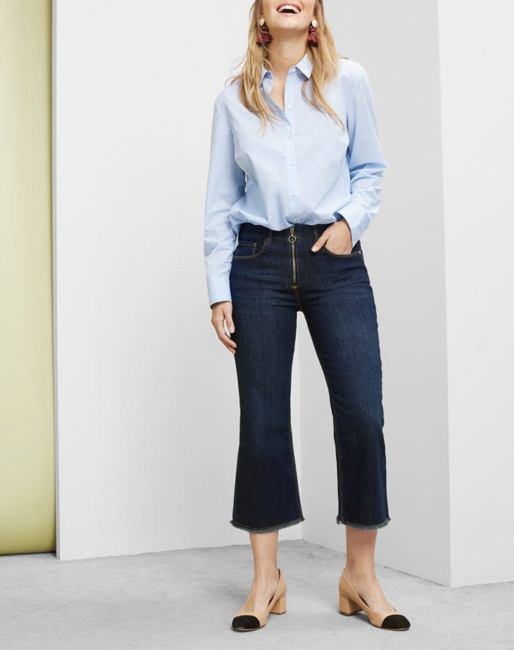 mango dark wash jeans denim trends NY