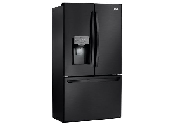 matte black fridge
