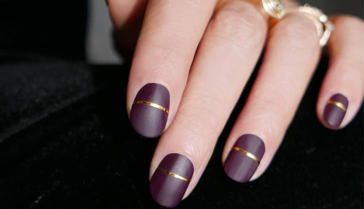 Matte With Gold Stripes