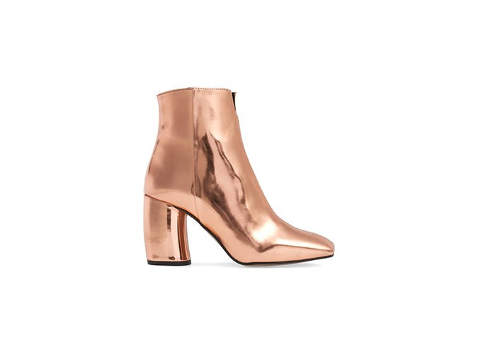 metallic booties for fall 1