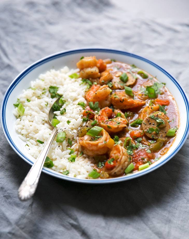 new orleans gumbo with shrimp and sausage 921
