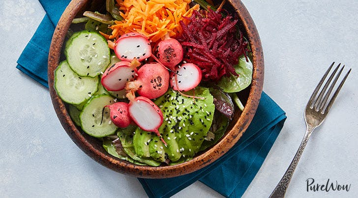 Radish Barbecue Bowls with Tangy Honey-Mustard Dressing
