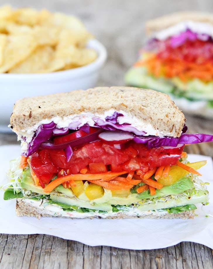 rainbow veggie sandwiches 921