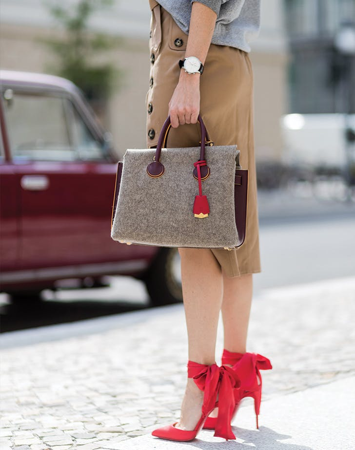 red fashion shoes