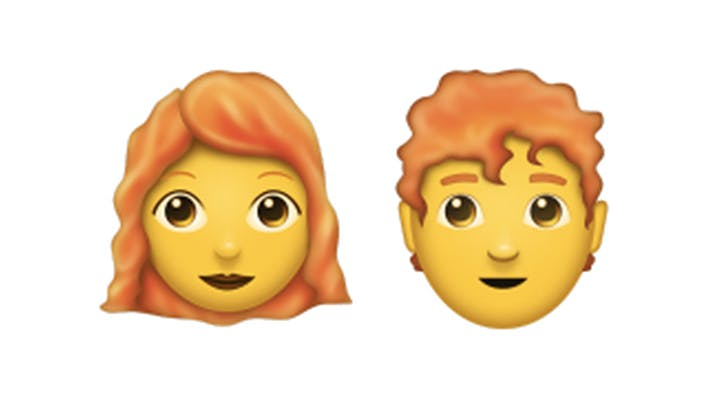 Redheads, Rejoice! Ginger, Lobster and Curly-Haired Emojis Are Finally on iPhone