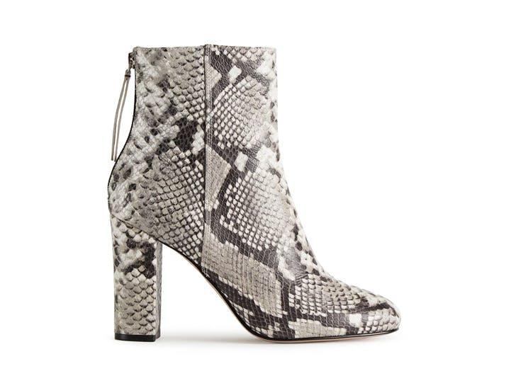 reiss snakeskin boots NY