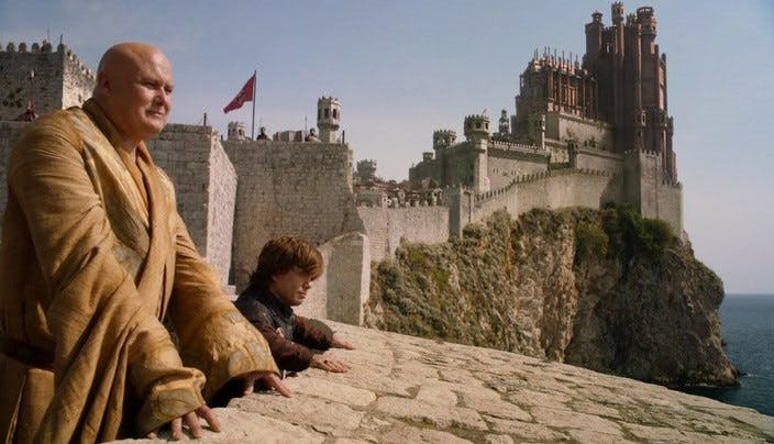 s02e08 tyrion and varys on the walls
