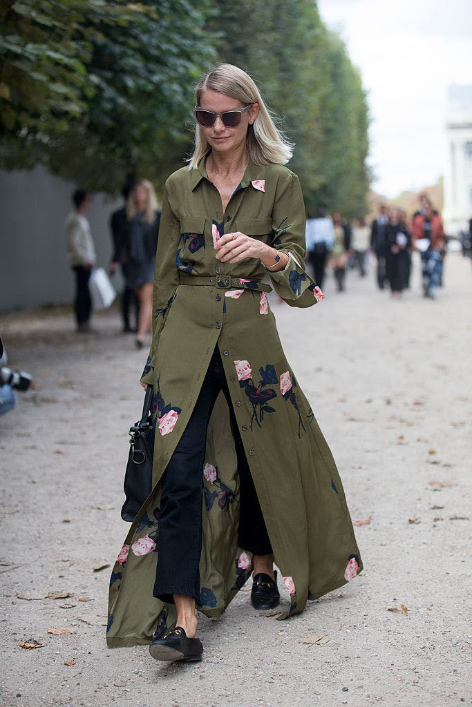 shirtdress and jeans getty images