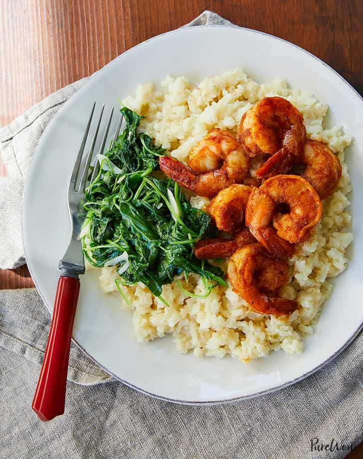 shrimp and cauliflower grits 921