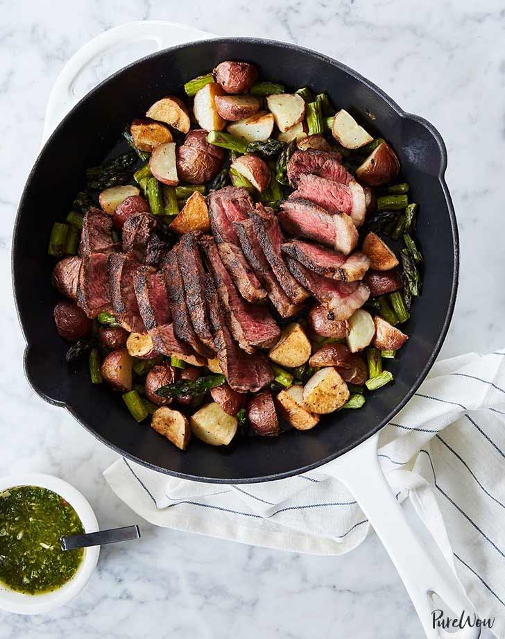 skillet steak with asparagus 921