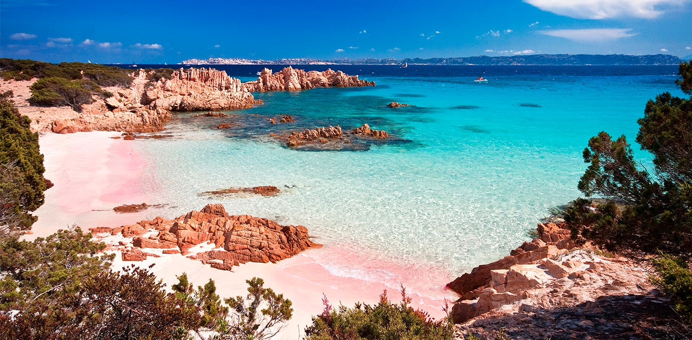spiaggia rosa sardinia pink sand beach psd