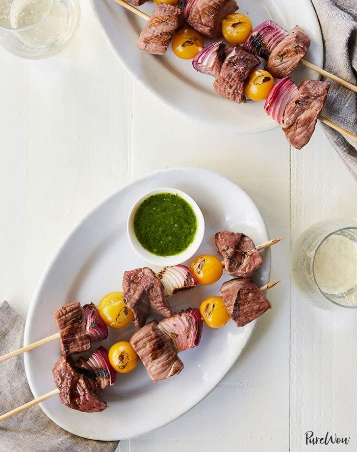 steak and chimichurri kebabs 921