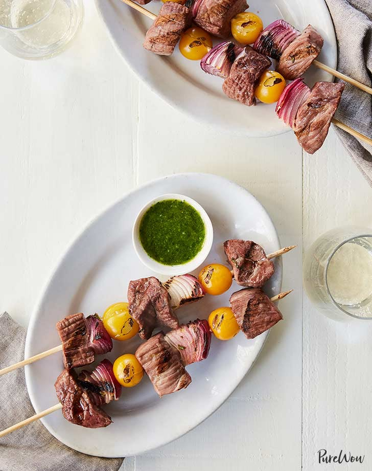 steak and chimichurri skewers 921