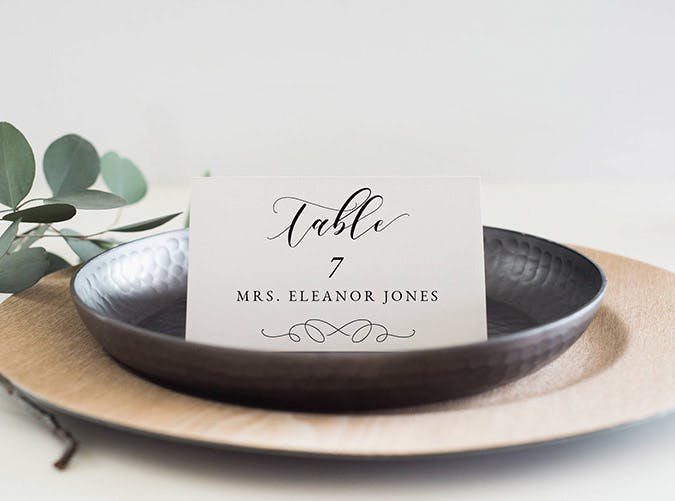 table setting name tags etsy