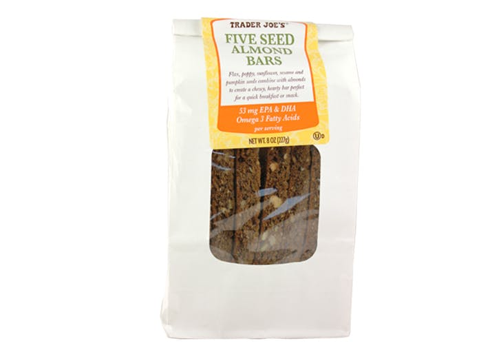 trader joes five seed almond bars
