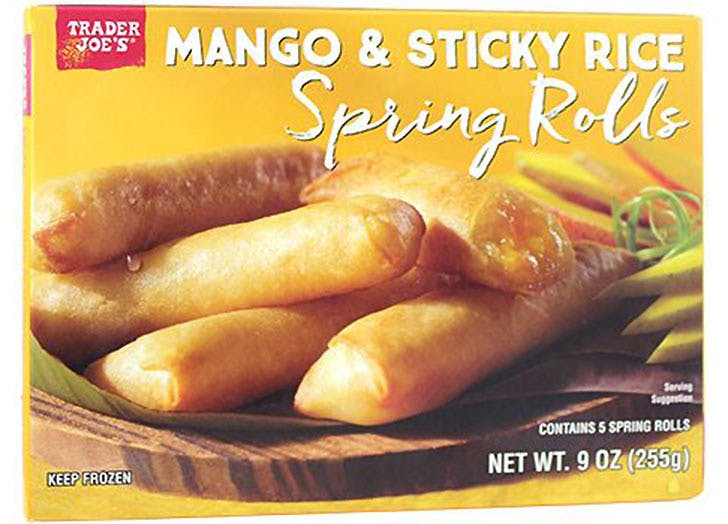 trader joes mango sticky rice spring rolls 524