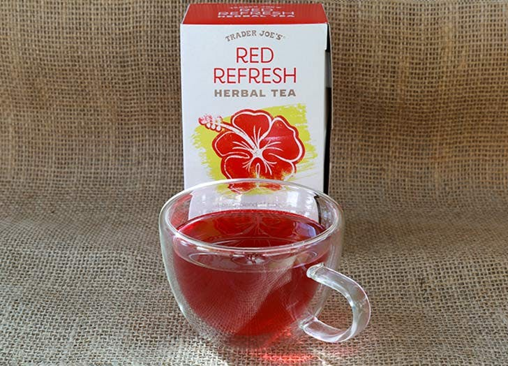 trader joes red refresh tea 524