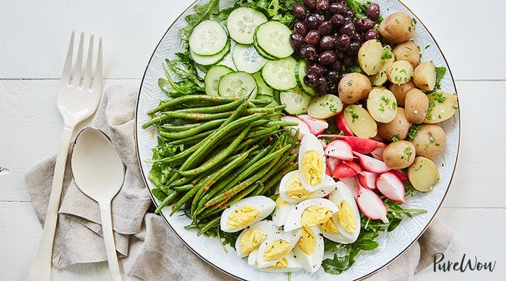 Veggie Niçoise Salad with Red Curry Green Beans