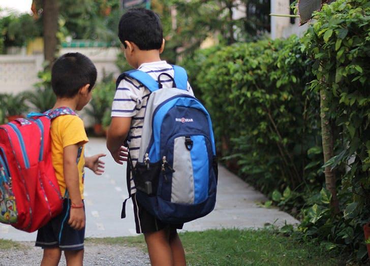wearing backpacks