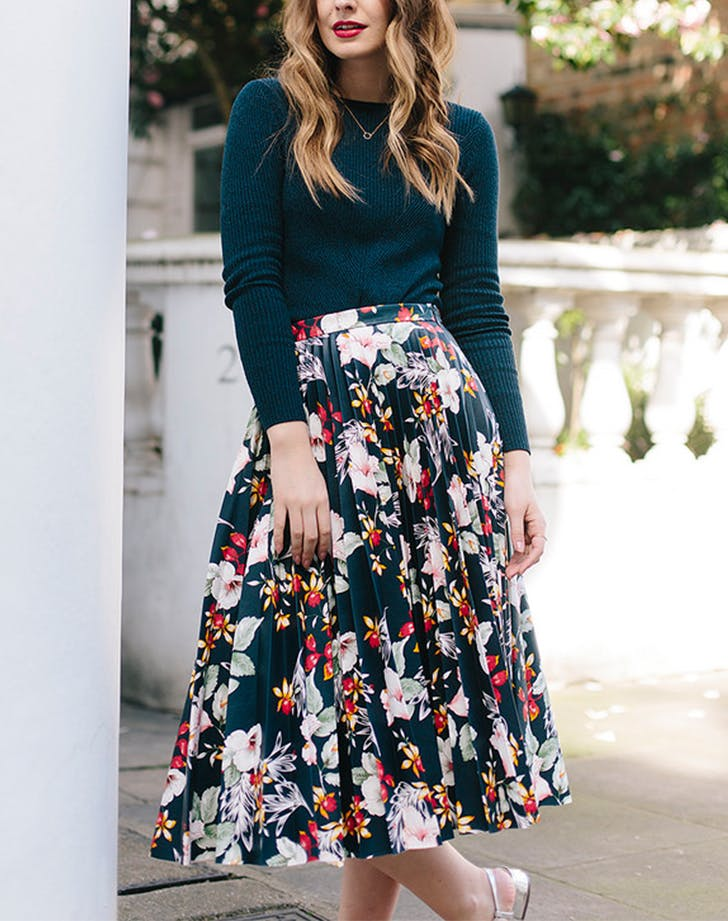 what olivia did floral midi blogger