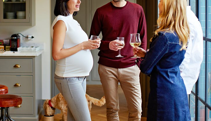 wine while pregnant