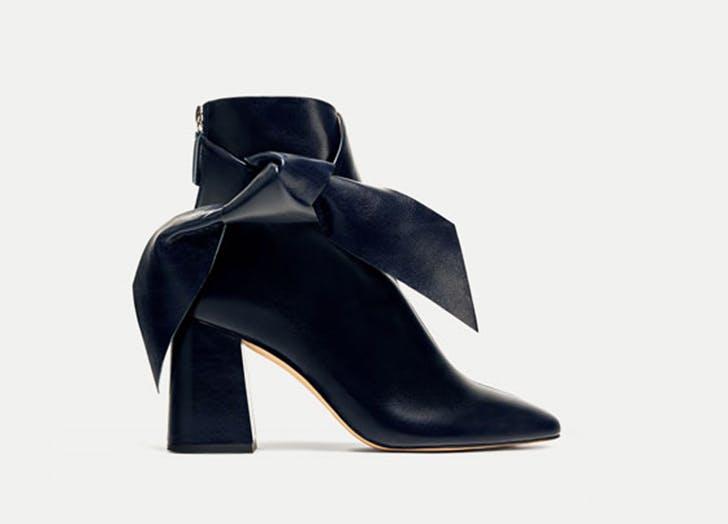 zara bow ankle boots NY