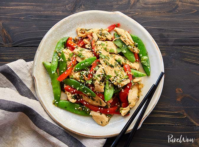 20 minute chicken and snap pea stir fry 501