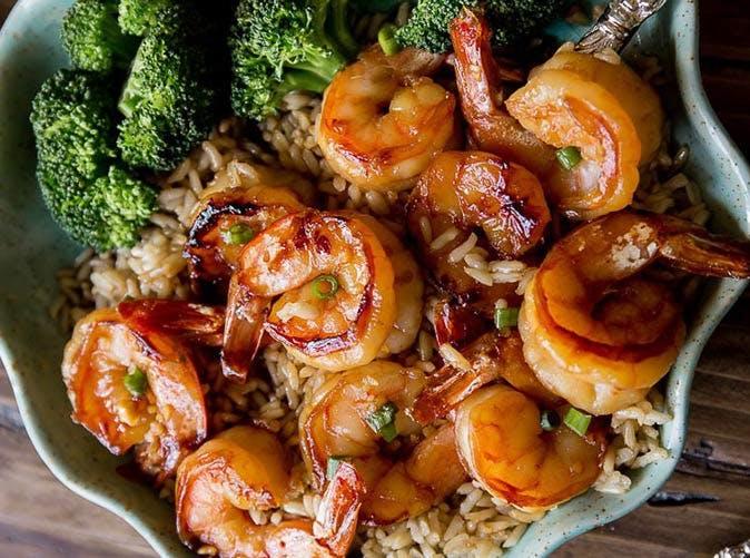 20 minute honey garlic shrimp stir fry 501
