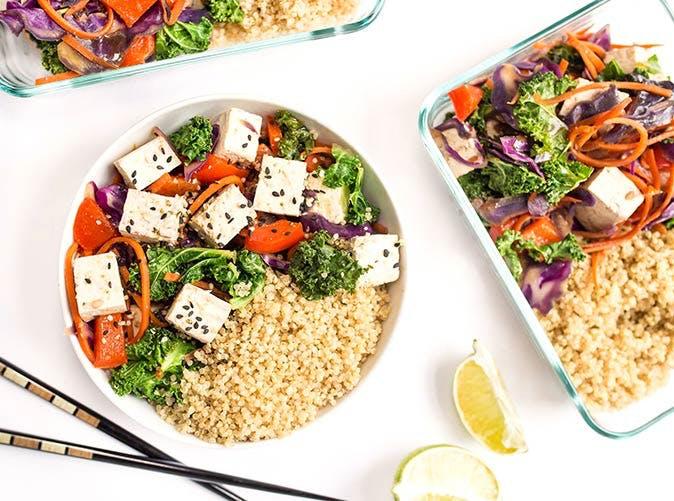 20 minute rainbow quinoa stir fry 501