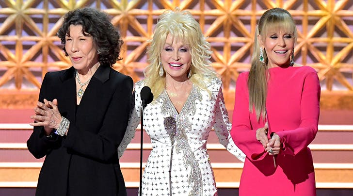 Dolly Parton, Jane Fonda & Lily Tomlin Had an Epic '9 to 5 Reunion at the Emmys