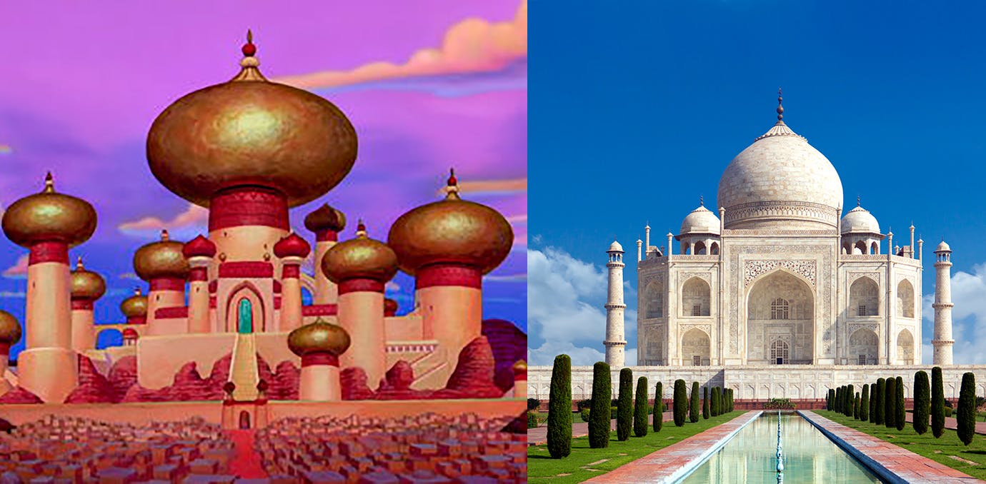 Aladdin real life Disney castle