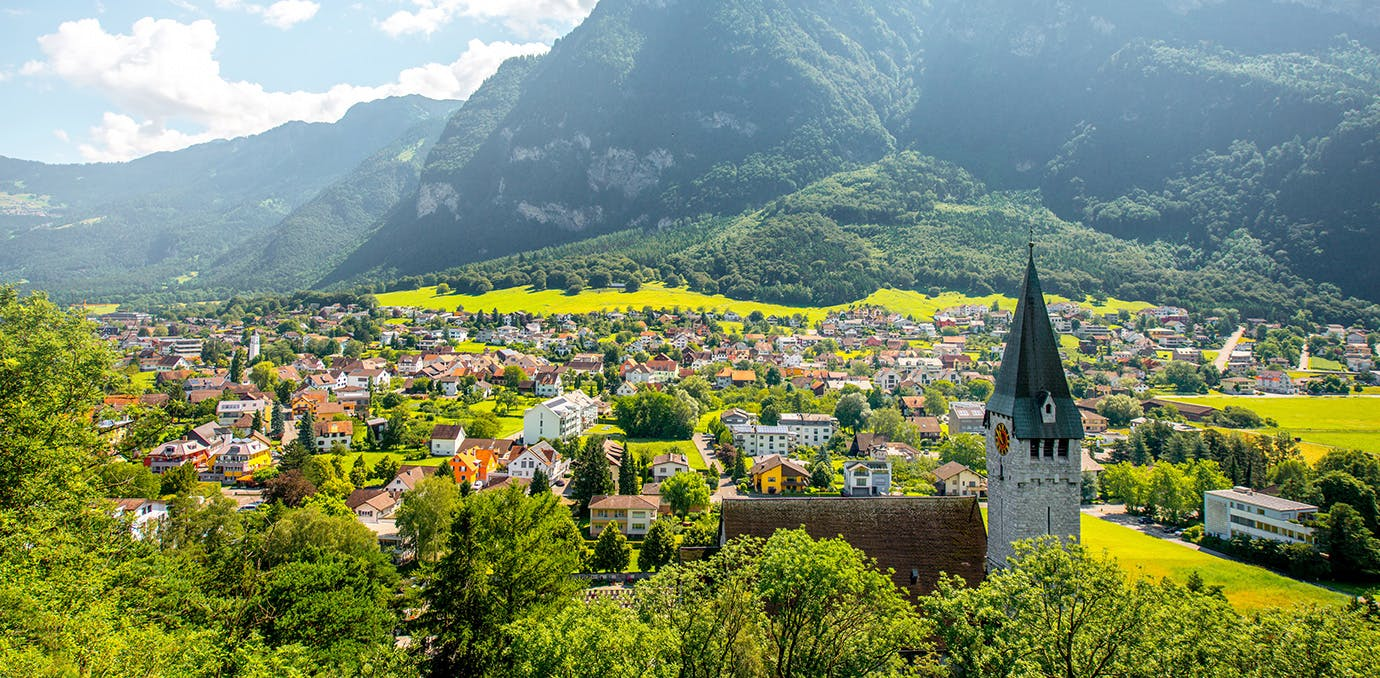 Balzers village in Liechtenstein one of the world s least visited countries1