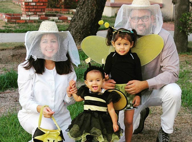 Bees and beekeepers family Halloween costume