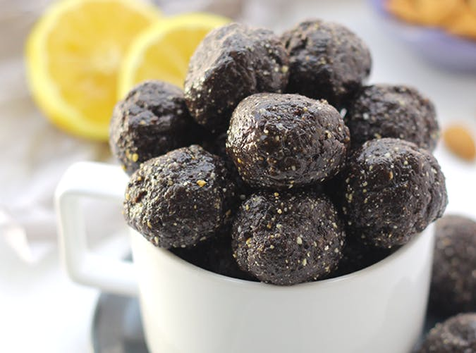 Blueberry Muffin Energy Balls vegetarian whole30 recipes