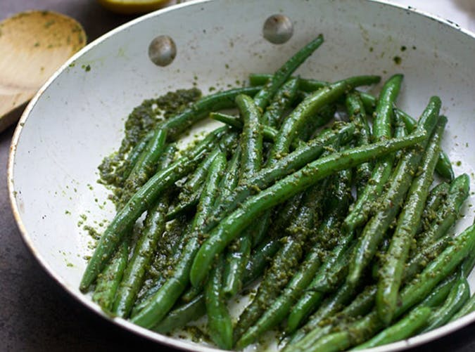 Brown Butter Pesto Green Beans Recipe