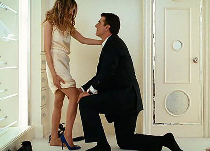 Carrie Bradshaw Mr Big Shoe Proposal