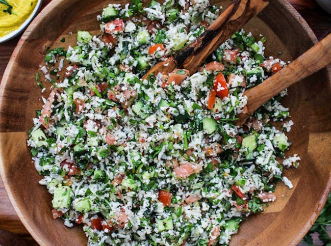 Cauliflower Tabbouleh vegetarian whole30 recipes