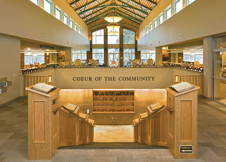 Coeur D Alene Public Library in Idaho