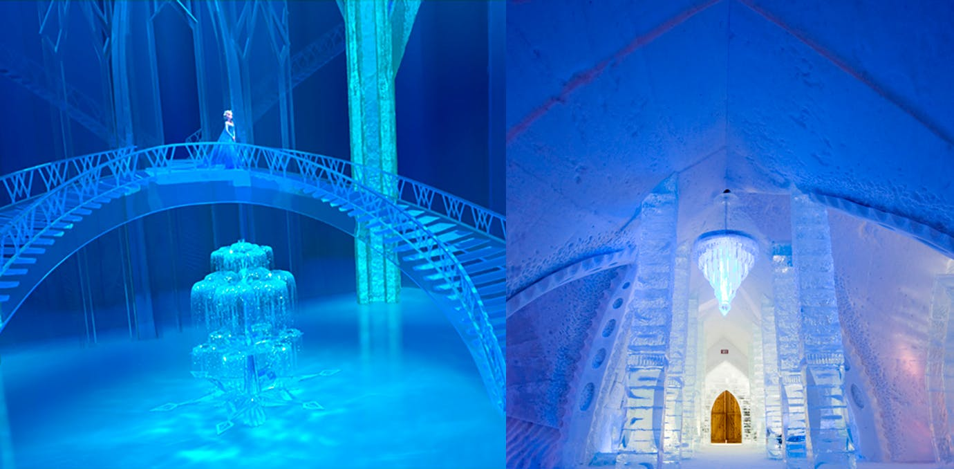 Elsa Frozen real life Disney castle