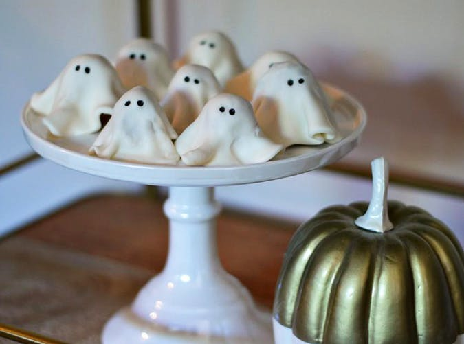 Ghost Cookies No Bake Halloween Treats