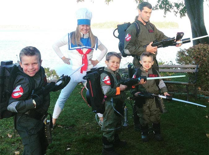 Ghostbusters family Halloween costume