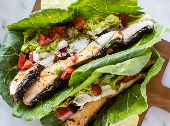 Harissa Portobello Mushroom  Tacos  vegetarian whole30 recipes