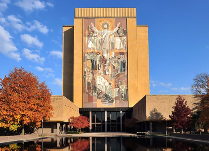 Hesburgh Library at the University of Notre Dame